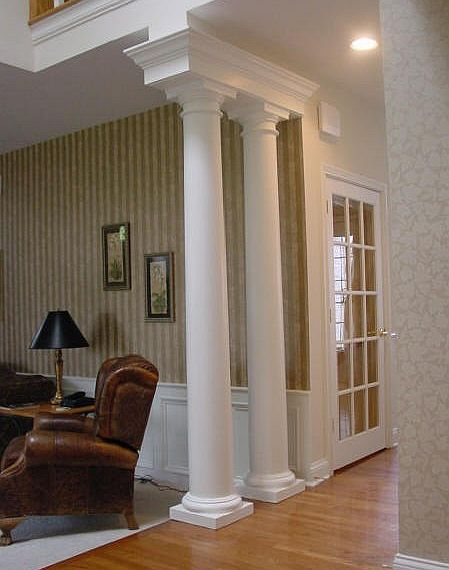 Wainscoting panels beadboard decorative columns for Decorative columns