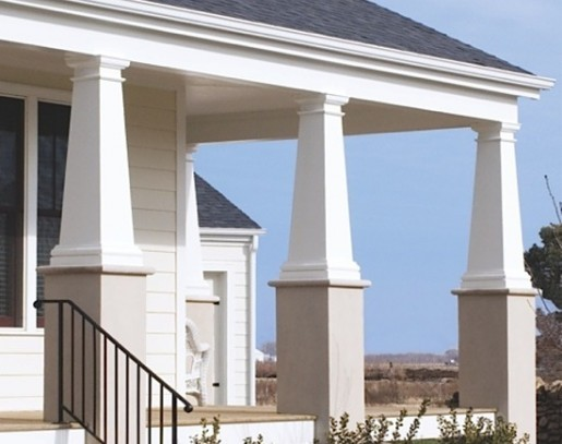 Wainscoting panels beadboard decorative columns for Hb g square columns