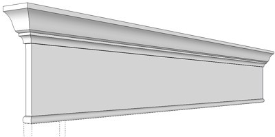 Interior mouldings trims crown moldings cornice trims for Interior window crossheads