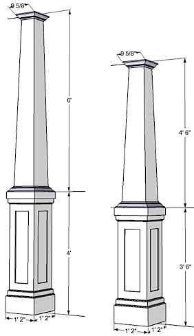 Pvc Column Wraps Tapered Columns Column Covers