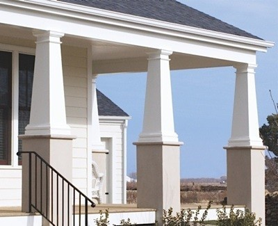 Hb g permacast columns composite columns for Arts and crafts porch columns