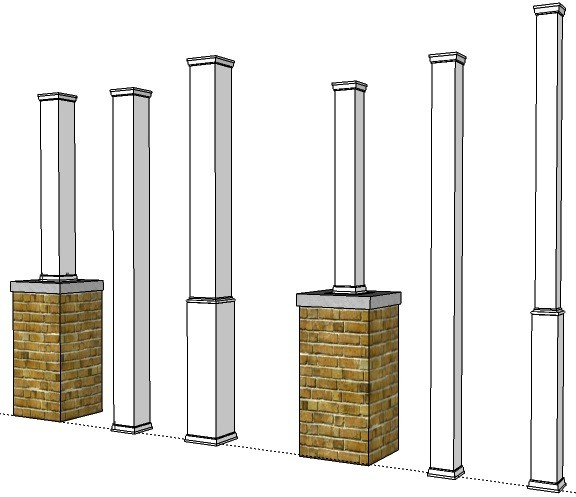 Pvc Porch Post Wraps Exterior Column Amp Pole Covers