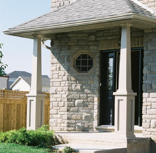 Pvc column wraps column covers post covers elite for Tapered porch columns