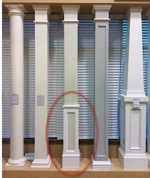 Pvc column wraps column covers post covers elite for Interior columns for sale