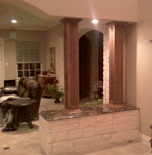 Square Wood Columns : Elite trimworks inc online store for wainscoting