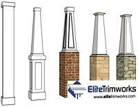 Exterior columns architectural structural columns for Decorative structural columns