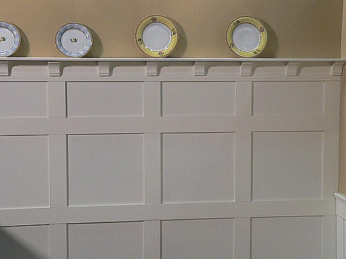 Craftsman Wainscoting Complete With Plate Rails Elite