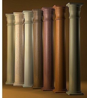 Round Stain Grade Hardwood Columns Oak Maple And Cherry