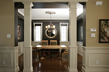The Attention To Detail And Devotion To The Classical Orders Are Absolute.  Choose From A Large Selection Of Either Square Or Round Interior Wood  Columns.
