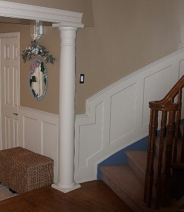 stairway wainscoting ideas