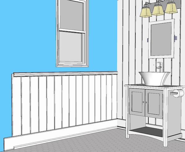 shiplap wainscoting elite trimworks. Black Bedroom Furniture Sets. Home Design Ideas